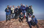 Walking Weekend April 2000 - Summit group on Pen-y-Fan, Brecon Beacons